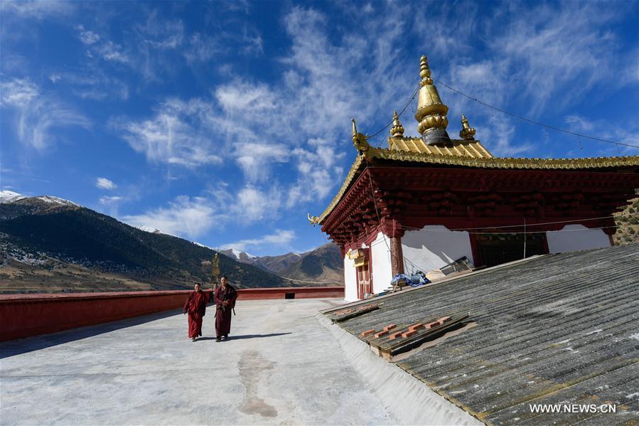 In pics: scenery of Riwoqe Monastery in Riwoqe, China's Tibet