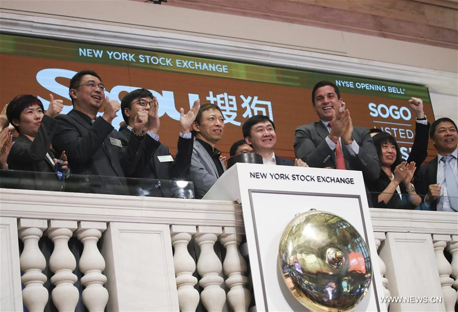 U.S.-NEW YORK-NYSE-SOGOU-DEBUT