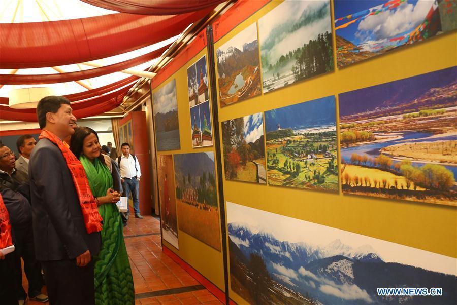 NEPAL-KATHMANDU-INTERNATIONAL DIGITAL ART EXHIBITION-TIBETAN CULTURAL HERITAGE