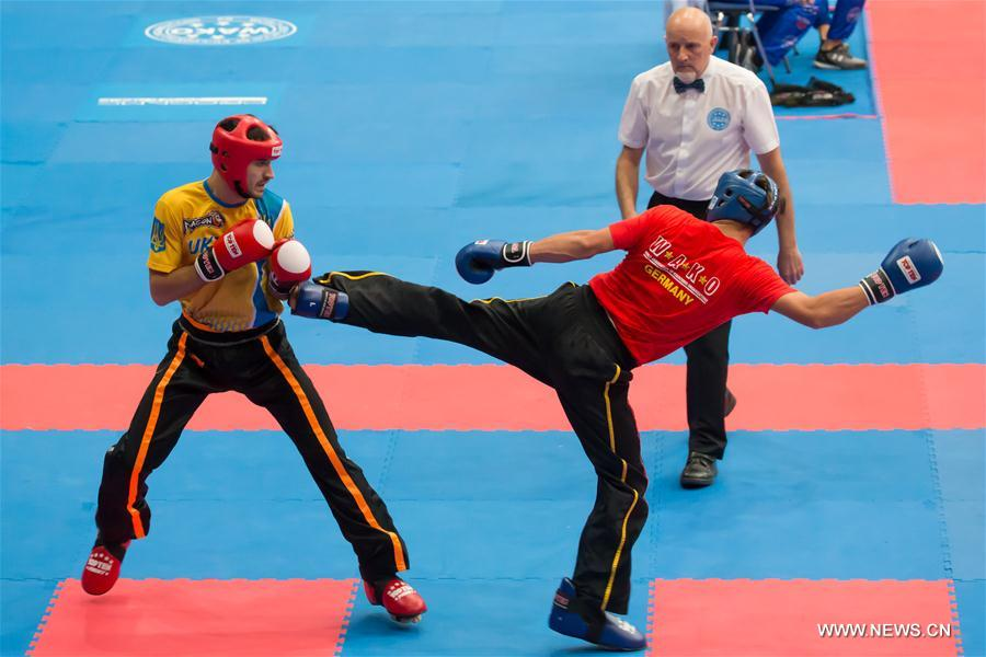 highlights of world kick boxing championships in budapest xinhua