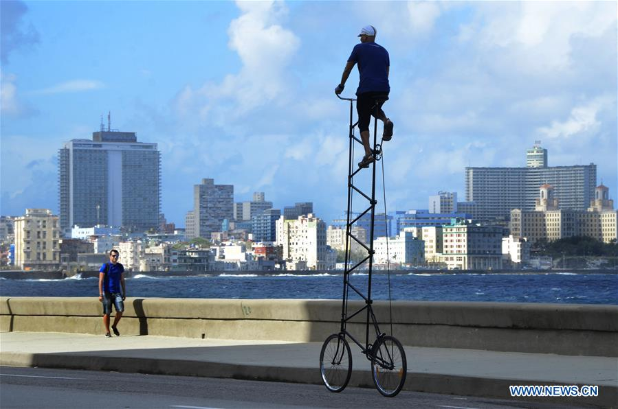 CUBA-HAVANA-GIANT BICYCLE-FEATURE