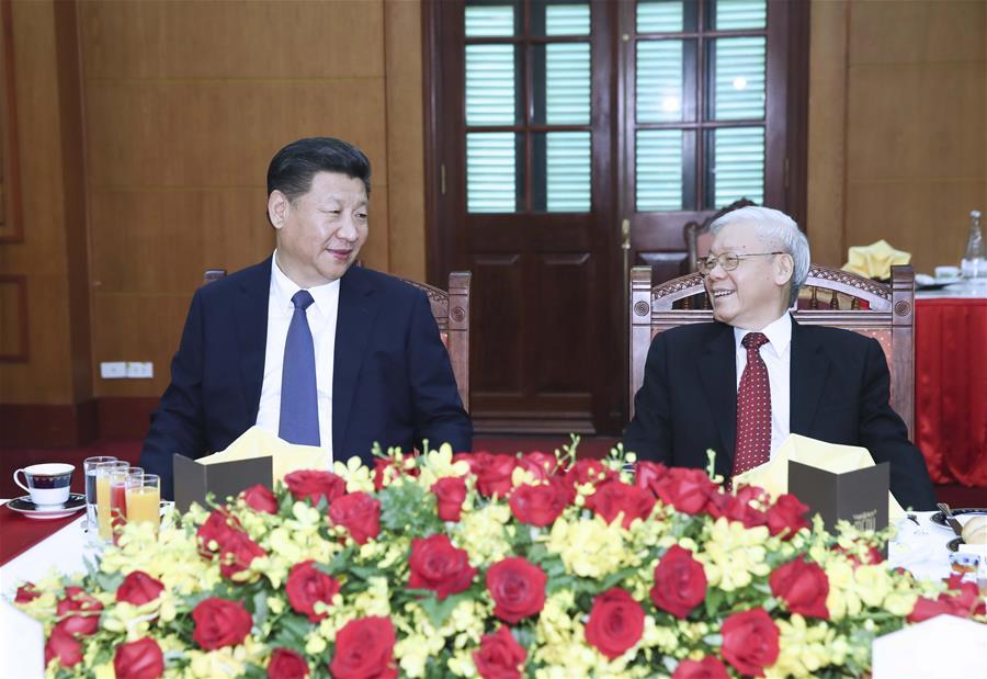 VIETNAM-CHINA-XI JINPING-NGUYEN PHU TRONG-MEET