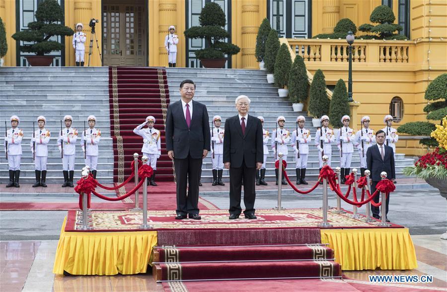 VIETNAM-HANOI-CHINA-XI JINPING-NGUYEN PHU TRONG-TALKS