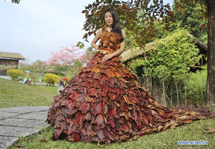 #CHINA-GUANGDONG-QINGYUAN-LEAF DRESS (CN)