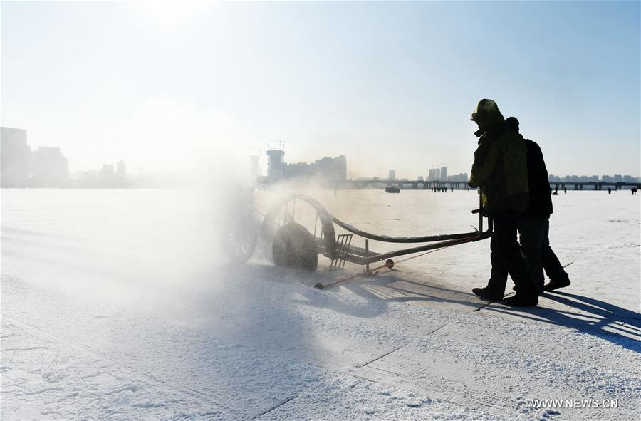 CHINA-HEILONGJIANG-HARBIN-ICE COLLECTING (CN)