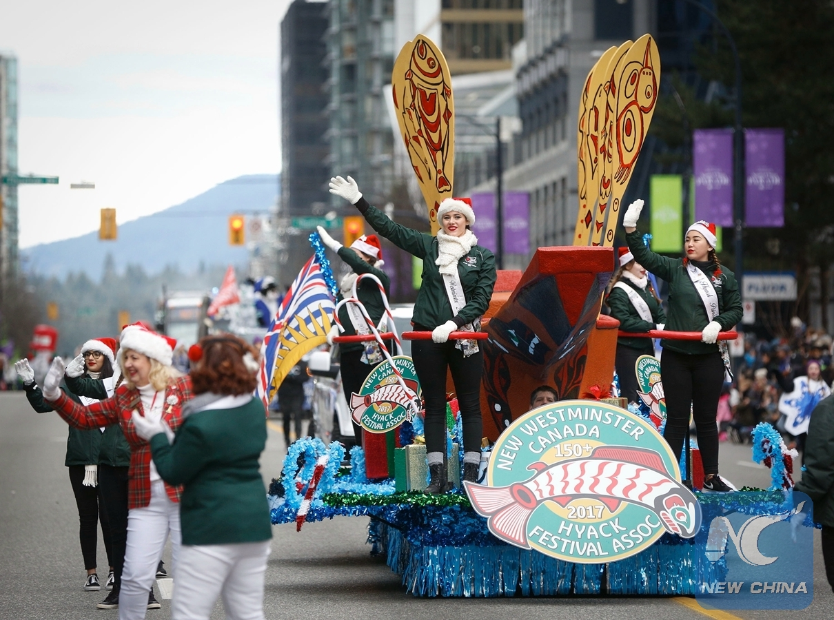 Vancouver Christmas Parade.Canada S Vancouver Holds Its 14th Annual Santa Claus Parade