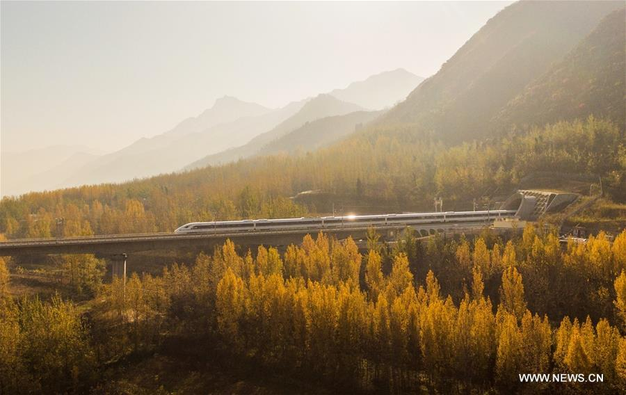#CHINA-XI'AN-CHENGDU RAILWAY-AERIAL VIEW (CN)