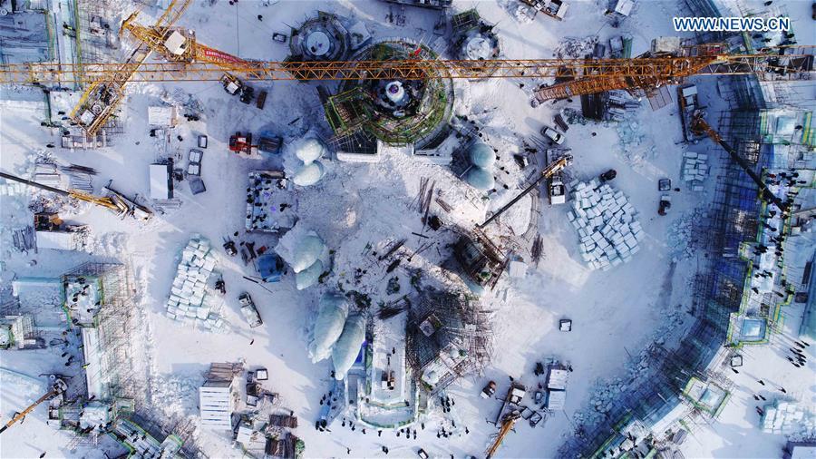 CHINA-HARBIN-SNOW WORLD THEME PARK-CONSTRUCTION(CN)