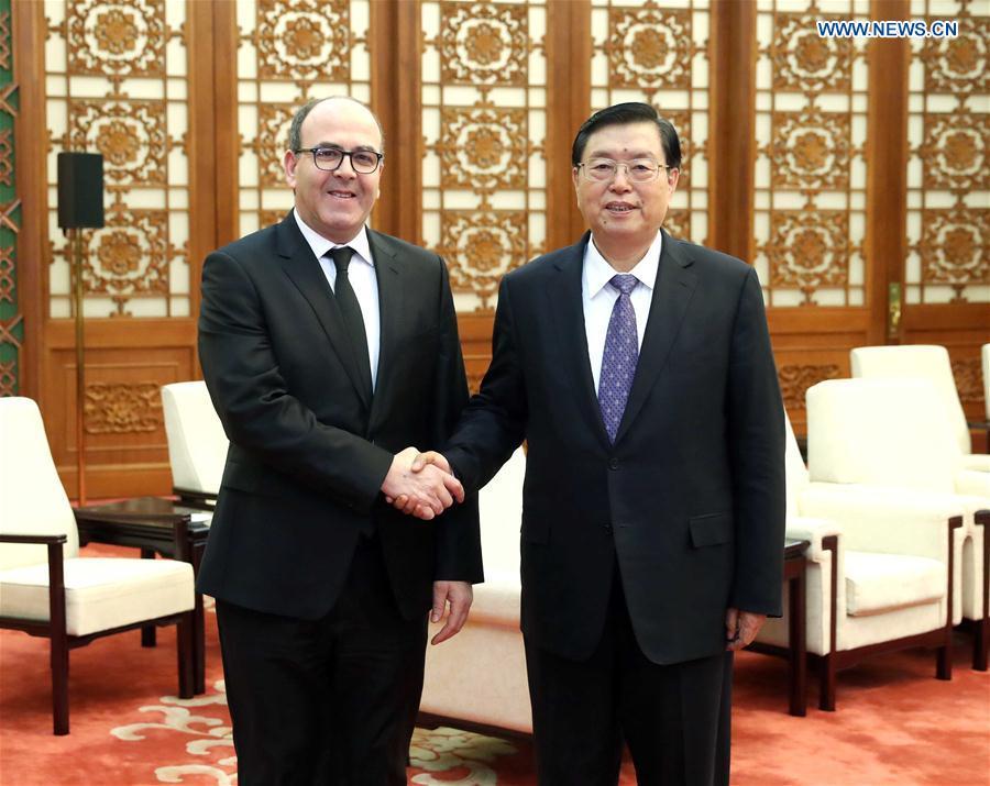 CHINA-BEIJING-ZHANG DEJIANG-MOROCCO-BENCHAMACH-MEETING (CN)