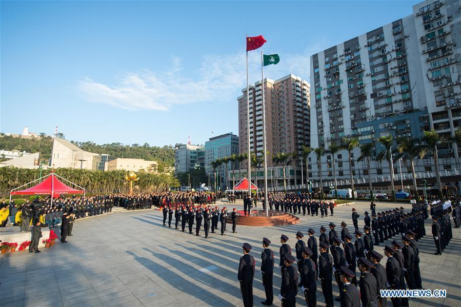 CHINA-MACAO-RETURN ANNIVERSARY-FLAG-RAISING CEREMONY (CN)