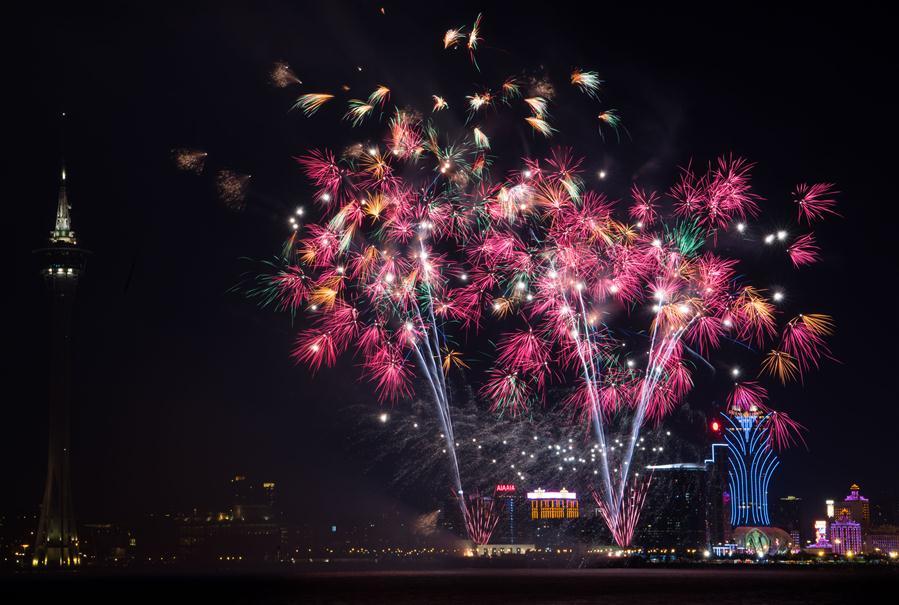 CHINA-MACAO-18TH ANNIVERSARY-RETURN TO MOTHERLAND-FIREWORKS (CN)