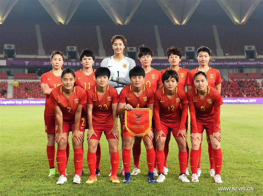 Sp China Foshan Soccer Women Chn Vs Tha Cn