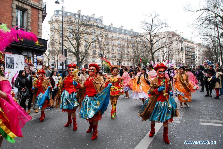 Highlights of 2017 paris carnival xinhua - Carnaval de paris 2017 ...