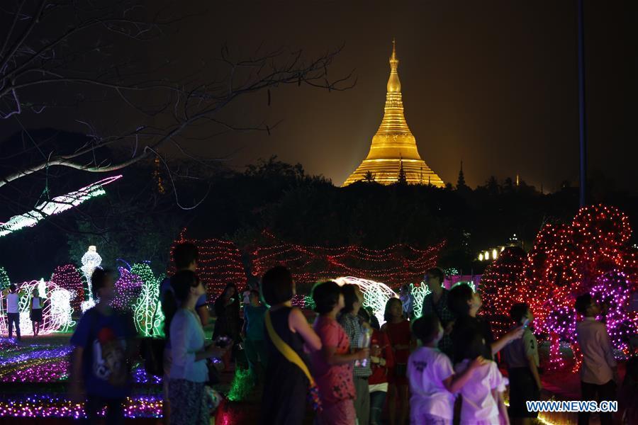 MYANMAR-YANGON-LIGHTING FESTIVAL & People enjoy Myanmar Intu0027l Lighting Festival - Xinhua | English ... azcodes.com