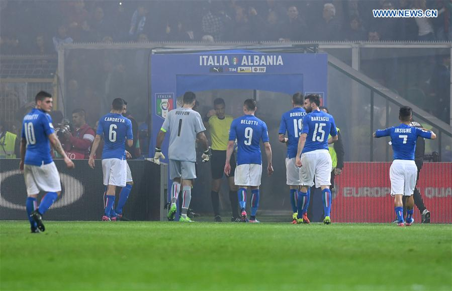FIFA 2018 World Cup Qualifying: Italy beats Albania 2-0