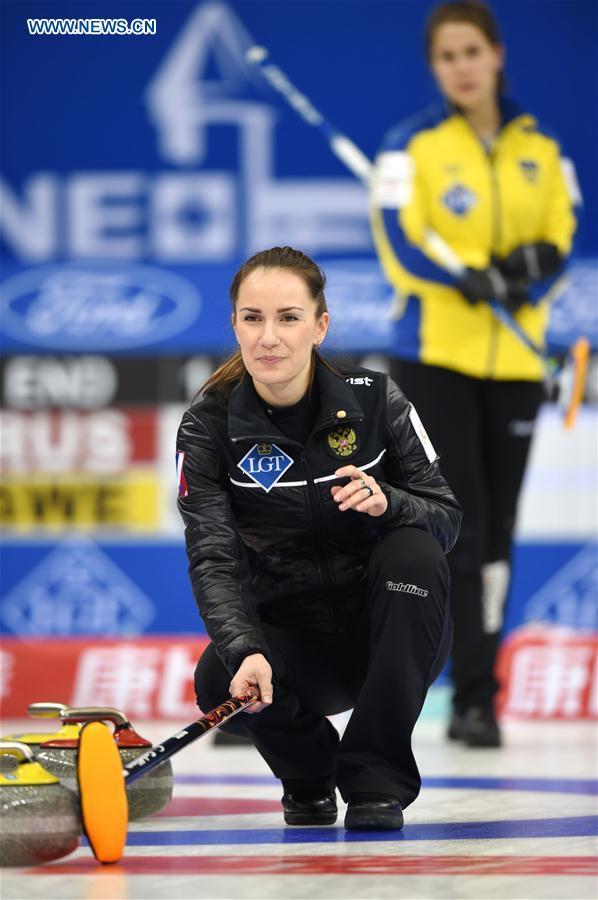 World Women's Curling Championship semifinal: Russia beats ...