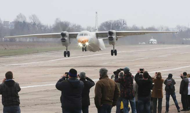 Ukraine's An-132 light transport plane makes maiden flight