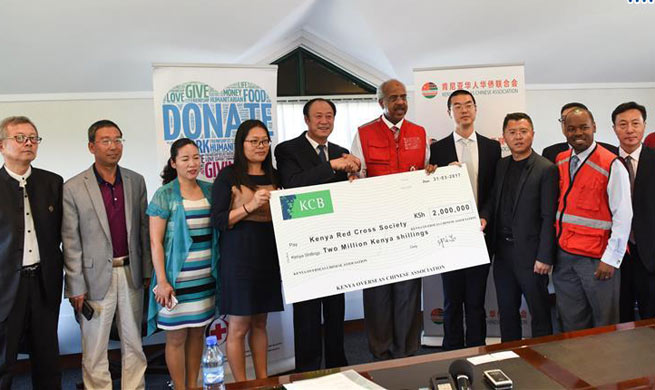 Chinese community donates to drought victims in Kenya