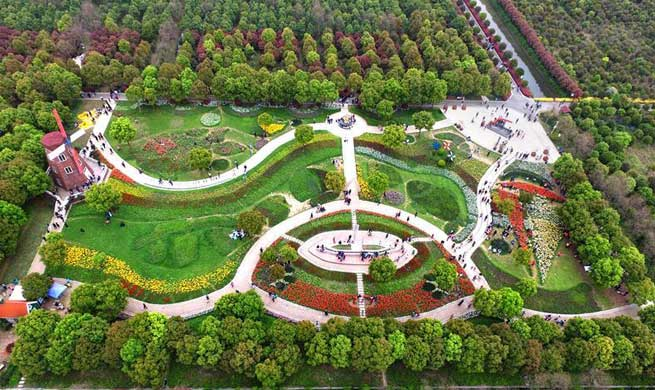 A look at tulip-themed park in Wuhan