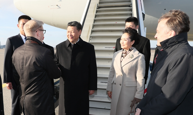 Chinese president arrives in Finland for state visit