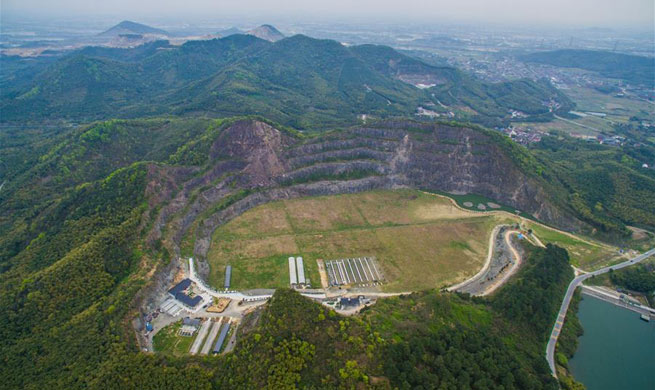 Abandoned mine turned into flower garden in E China's Zhejiang