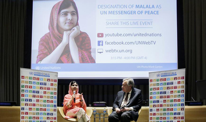 UN designates Pakistan's Malala as youngest Messenger of Peace