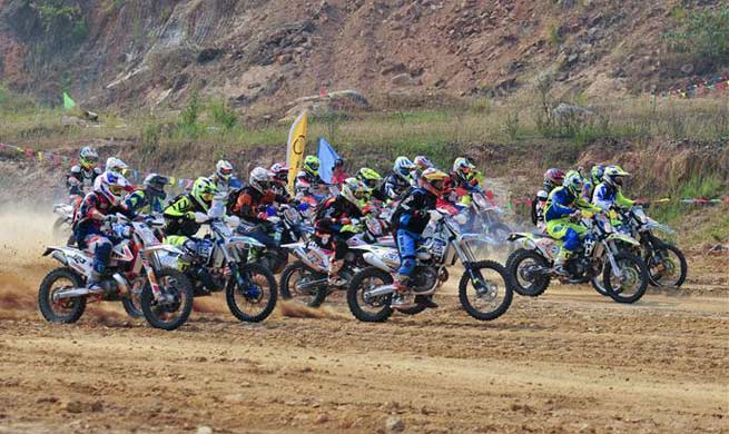 Golden Triangle International Motorcycle Rally held in Laos
