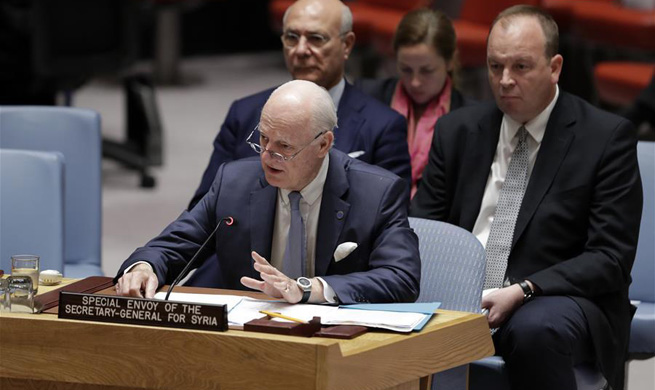 UN Security Council holds briefing from special envoy for Syria