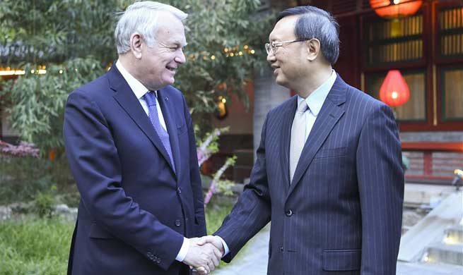 Chinese official meets French foreign minister