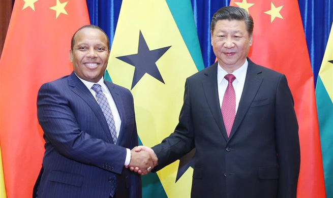 Xi calls for mutual support between China, Sao Tome and Principe
