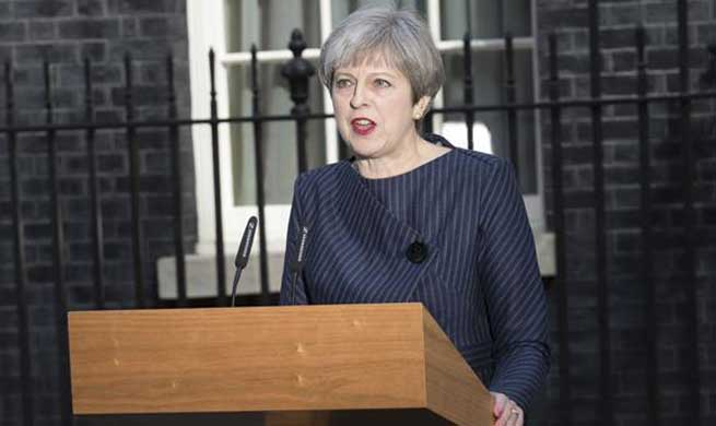 British PM calls snap general election on June 8