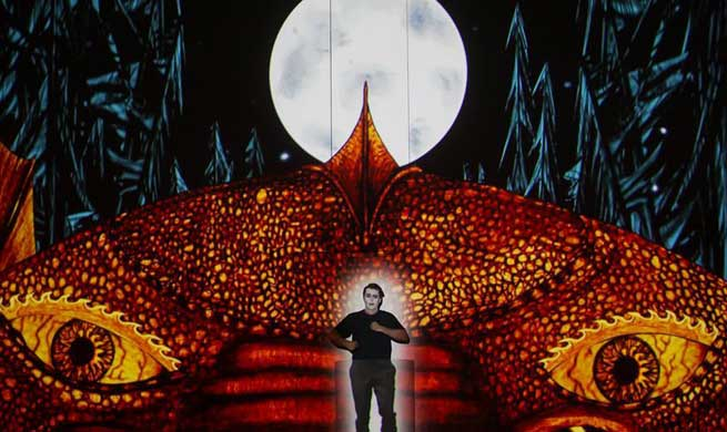 "Dress rehearsal of Mozart's ""The Magic Flute"" staged in Budapest"