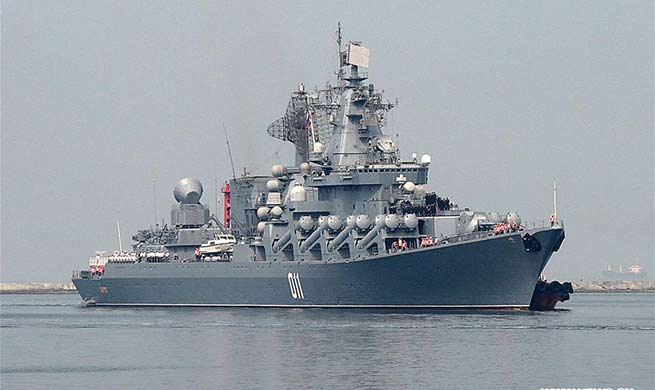 "Russian Pacific Fleet's flagship ""Varyag"" arrives in Manila for 4-day visit"