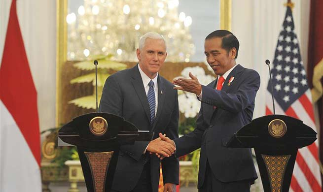 Indonesian president meets with U.S. vice president in Jakarta