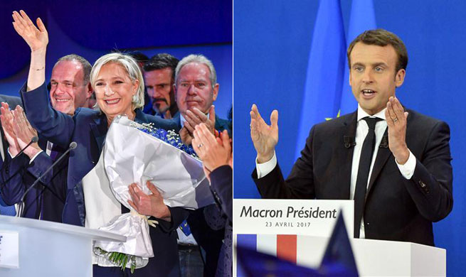 Macron, Le Pen advance to French presidential election runoff