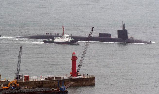 U.S. nuke-powered submarine arrives in S. Korea amid tensions