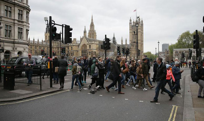British police arrest man carrying knives after incident in Whitehall