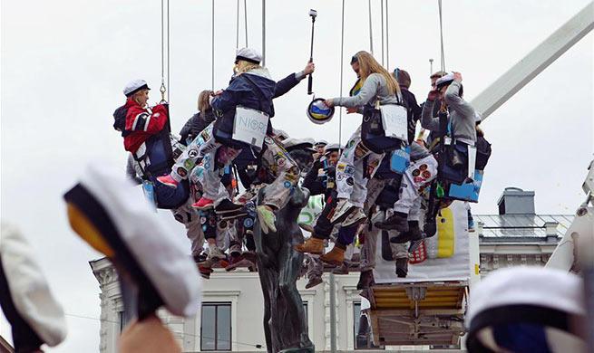 People celebrate Walpurgis Day in Helsinki