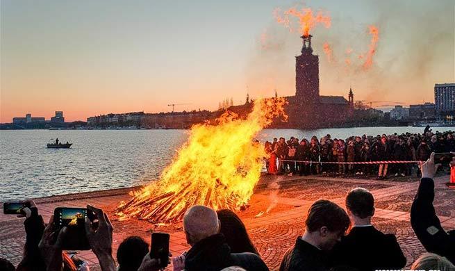 Swedes celebrate Valborg in Stockholm