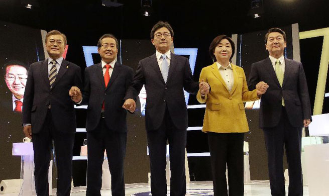 S. Korean presidential candidates attend televised debate