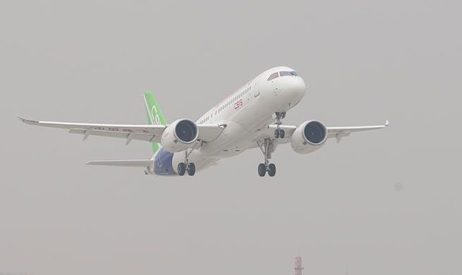 China sends homegrown jumbo passenger jet C919 into sky