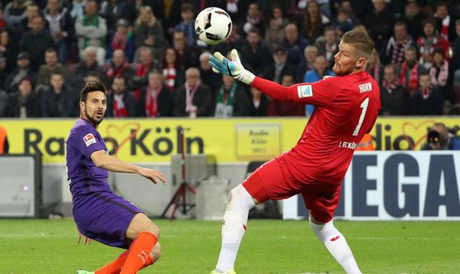 1. FC Koeln beat SV Werder Bremen 4-3 in Bundesliga match