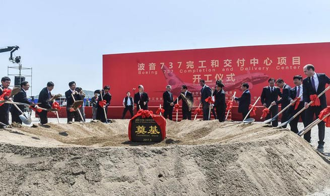 Construction of Boeing's 1st overseas 737 factory starts in China