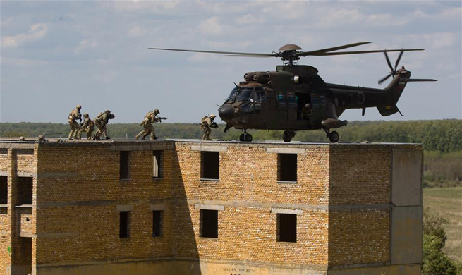 2017 helicopter exercise held in Zalahalap, Hungary