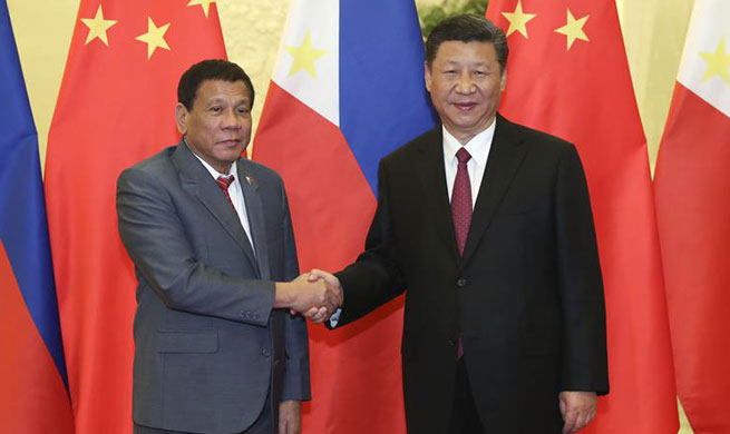 Xi calls for dovetailing development strategies of China, Philippines