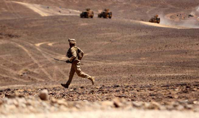 "Soldiers take part in ""Eager Lion"" military exercise in Jordan"