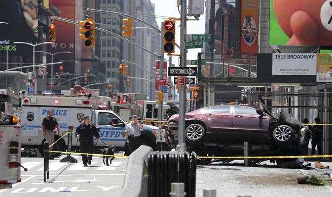 At least 10 injured in NYC's Times Square car crash accident