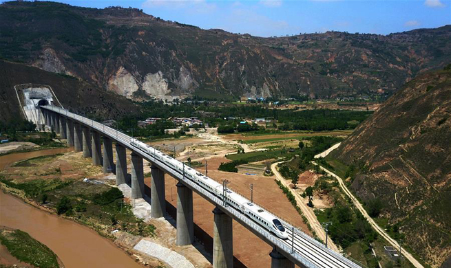 China's Baoji-Lanzhou high-speed railway line starts test runs