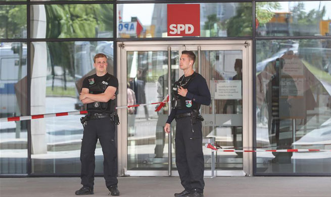German police give all-clear after evacuation of Social Democrats' party HQ