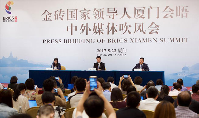 Press briefing of BRICS Xiamen Summit held in SE China